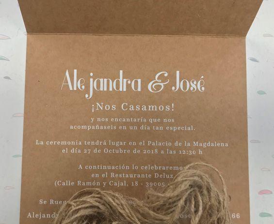 Invitaciones De Boda Gráficas Netor San Sebastián De